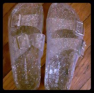 Silver Sparkly jelly sandals
